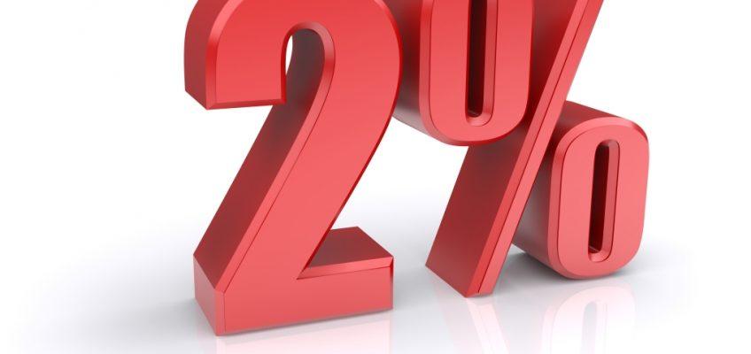 2 % daní